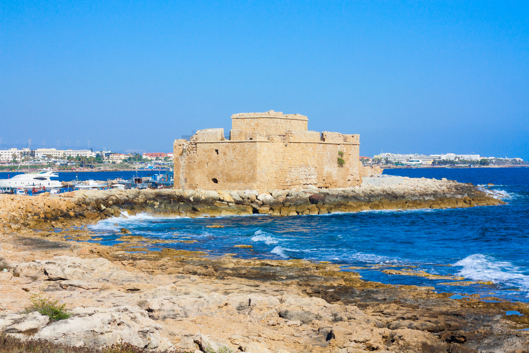 Widok na Zamek w Pafos